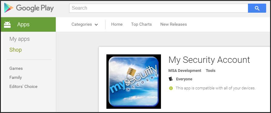 MySecurity Google App