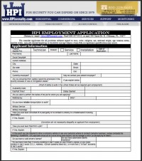 Technician Application-HPI Employment